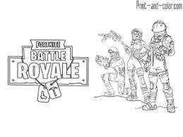 Fortnite Battle Royale Coloring Page Squad Giochi Nel 2019