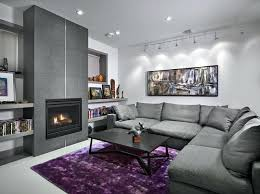 plum and grey living room go for grey and yellow purple and black