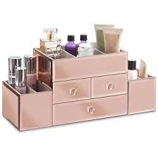 image is loading beautify large rose gold jewelry box cosmetic makeup