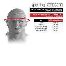 Size Chart Sparring Headgear Century Martial Arts