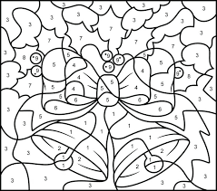 Christmas Coloring By Numbers Zupa Miljevcicom