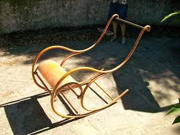 Sedie In Ferro Battuto Ebay : Antica sedia a dondolo in ferro epoca san mauro pascoli
