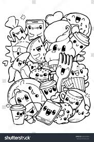 Cute Food Coloring Pages For Kids Printable Coloring Page For Kids