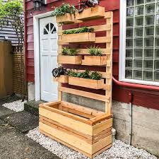 vertical planter wall ana white