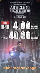 Box Office India Full Chart Ayushmann Khurrana Starrer Article 15 Charts Rs 40 86