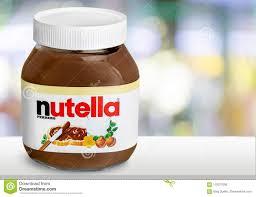 Light Chocolate Spread Nutella Hazelnut Spread Jar On Light Background Editorial