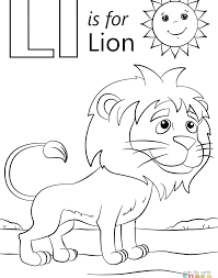 Free Coloring Pages Of Capital Bubble Letter L Learning Page For