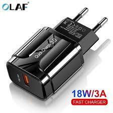 <b>OLAF</b> 18W <b>Quick Charge</b> 3.0 USB Charger EU US 5V <b>3A</b> Fast ...