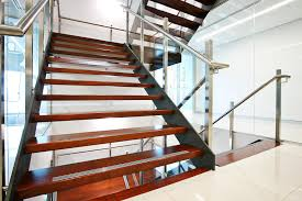 A feature stair integrating well in an architect-designed office environment