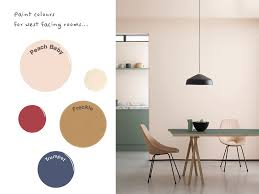 paint colours recommended for west facing rooms