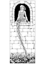 Rapunzel Coloring Pages Fairy Tale