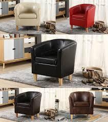 image is loading foxhunter faux leather pu tub chair armchair dining