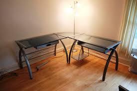 corner desk office depot. Glass L Shaped Desk Office Depot With Light New Furniture Within Inspirations 17 Corner P
