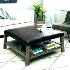 tufted leather ottoman coffee table square for