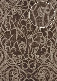 Barok Behang Atlas Cla 597 9 Vliesbehang Glad Met Grafisch Patroon
