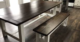 Farmhouse Kitchen Table Bench Wood Furniture Creations