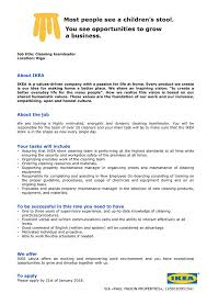 Cv For Cleaning Job Job Ad Cleaning Teamleader Riga Full Time Work Ikea