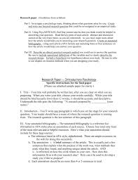 The methodology section of your paper should clearly articulate the reasons why you have chosen a particular procedure or technique. Research Paper Guidelines Abnormal Psychology