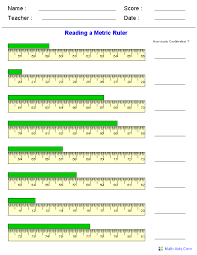 Measurement Worksheets Dynamically Created Measurement