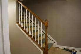 Image of: Stair Railing Ideas Basement