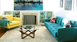 turquoise color in the living room 6