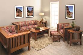 Mission Living Room Furniture Amish Mission Prairie Loveseat