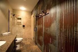 corrugated metal bathroom ideas appealing tin shower wall schedule a a rugged man style bath bath kitchen