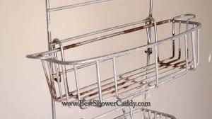reliable stainless steel over the door shower caddy important rust