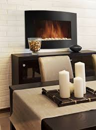 stylish 35in electric wall mount fireplace provides both heat and ambiance