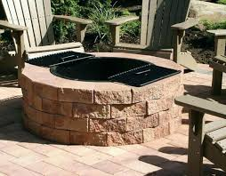 gas outdoor fire pit kits awesome round how to build a wood burning outdo