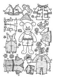 Small Picture girl bear paper doll coloring page Would be cute to use for a