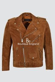 new fringe brando tan suede men s motorcycle biker real rock leather jacket