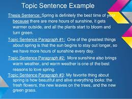 writing a point thesis statement 12 topic sentence example thesis