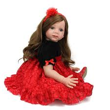 pre special adoption reborn toddler doll big doll reborn soft vinyl toys long wig hair princess lace dress asian dolls porcelain doll from