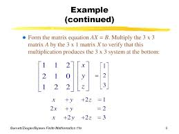 matrix equation math is fun diffeial mathematica solving mathcad chapter 4 systems of linear equations matrices