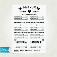 Cafe Menu Template Cafe Menu Template Design Royalty Free Cliparts Vectors And 4