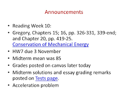 announcements reading week gregory chapters pp  2 announcements
