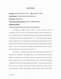 Admission Letter Of Intent Sample Mba Example For Graduate School