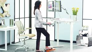 sit stand desk demonstration of the sit stand desk