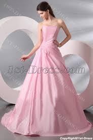 pink long taffeta wedding dress for over 40 bride 1st dress com
