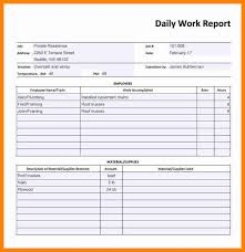 14 Employee Daily Report Template This Is Charlietrotter