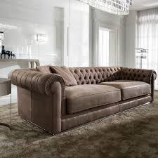 high end italian nubuck leather on upholstered sofa