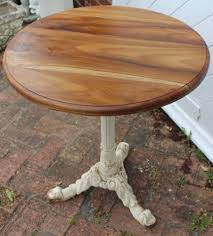 cast iron base round pub table with