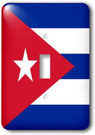 Country Star Light Switch Covers 3drose Lsp_158302_1 Flag Of Cuba Cuban Blue Stripes Red