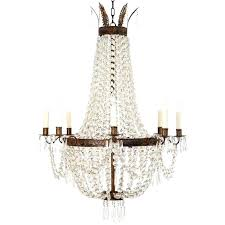 french empire chandelier beautiful crystal and bronze at style antique chandel