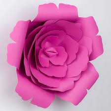 Flower Made In Paper Large 12 Inch Pre Made Fuchsia Hot Pink Rose Paper Flower Wedding Backdrop Wall Decor 3d Diy