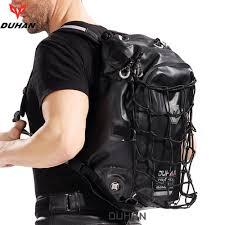 duhan motorcycle backpack waterproof helmet bag original authentic rider moto black package tank bag moto luggage shoulder side cases motorcycle small
