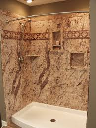 faux stone shower wall panels made of pvc
