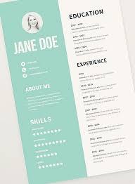 Free Graphic Design Resume Templates Best 25 Cv Template Ideas On Pinterest  Layout Cv Creative Cv Ideas