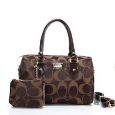 Coach Logo Monogram LZ704 Two-Piece Satchel In Coffee Fashion Bags, New  Fashion,